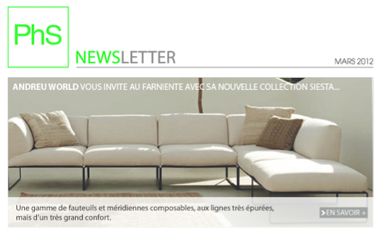 newsletter phs mobilier Mars 2013