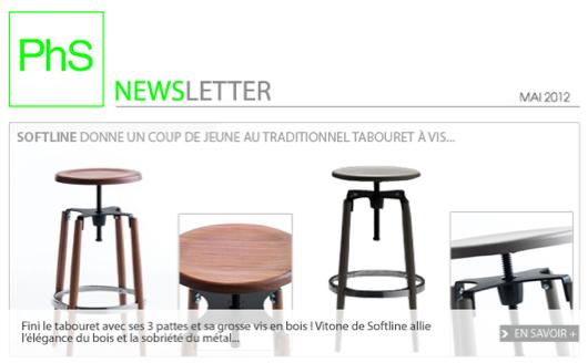 newsletter phs mobilier Mai 2012