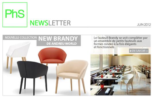 newsletter phs mobilier Juin 2012